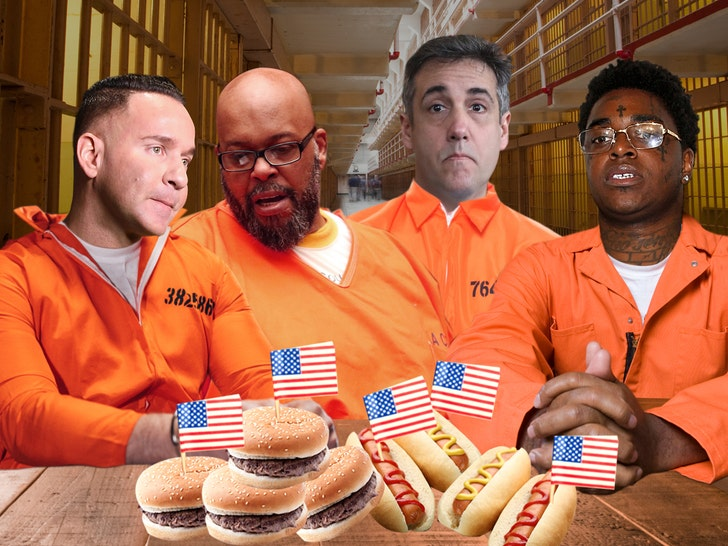Celeb Prisoners' Fourth of July Meals Revealed