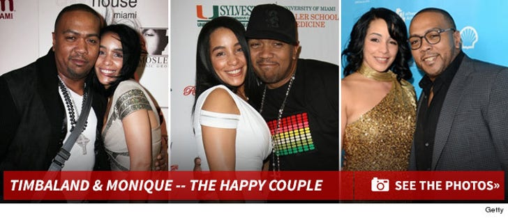 Timbaland & Monique -- The Happy Couple