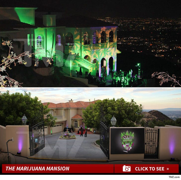 Haunted Hollywood Mansion -- Turned Into Weed Party Palace