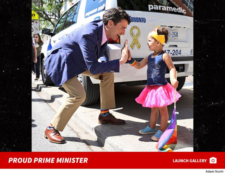 Justin Trudeau At Toronto Gay Pride