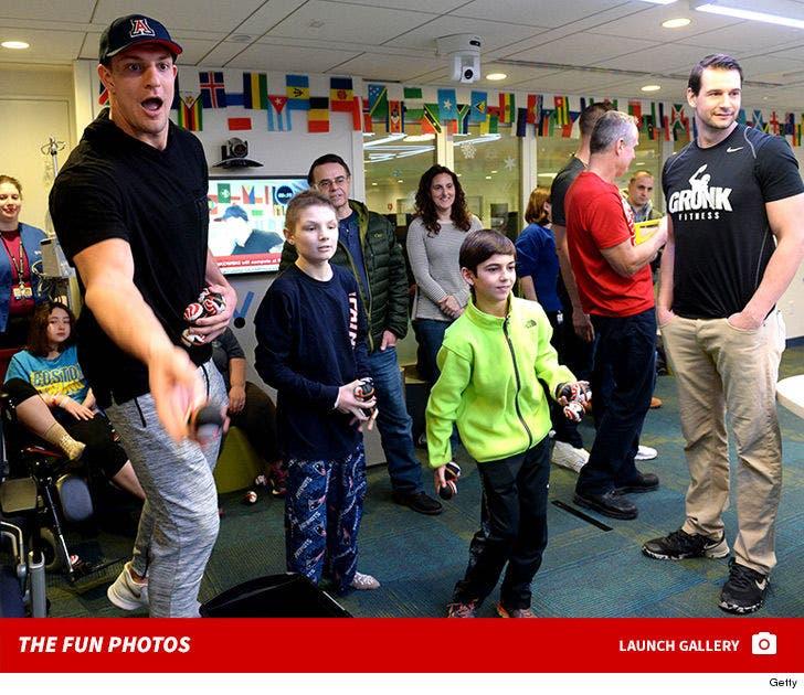 Gronk Pops Up at Children's Hospital