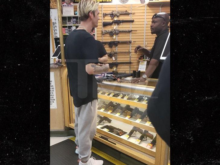 Aaron Carter Buys More Guns