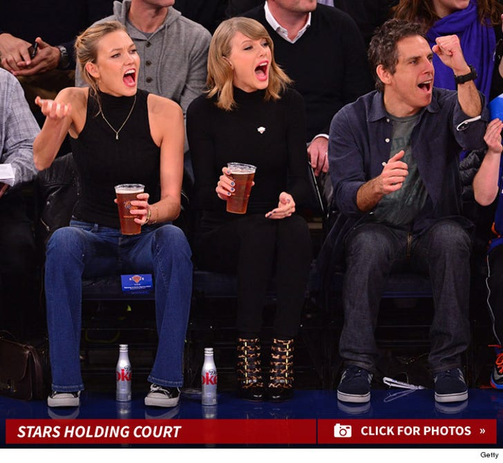 Stars at the Knicks Game