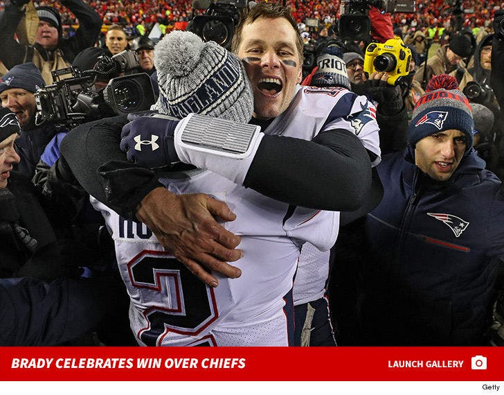Tom Brady Celebrates Win Over Chiefs