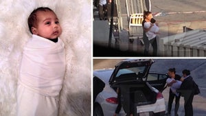 North West -- No Parents Required ... Ballin' Out Solo in First Class & Porsches