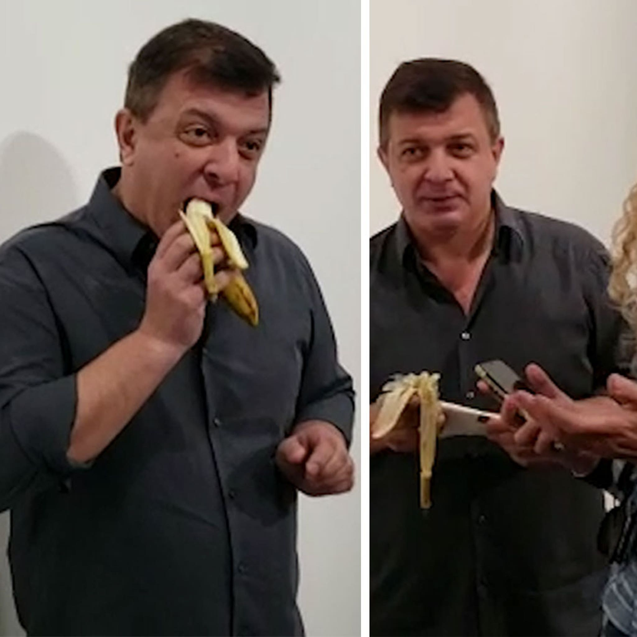 The $120k Duct Taped Art Basel Banana Eaten by Performance Artist