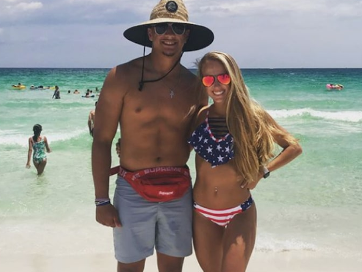 Patrick Mahomes and Brittany Matthews -- The Hot Couple