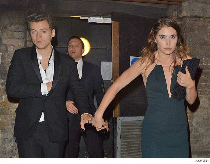 Harry Styles Locking Digits With Mystery Girl