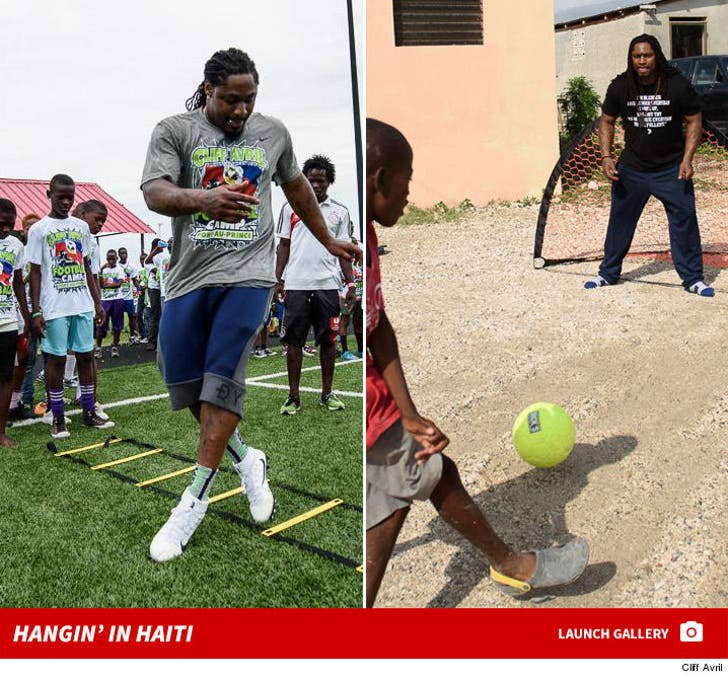 Marshawn Lynch -- Hanging Out in Haiti