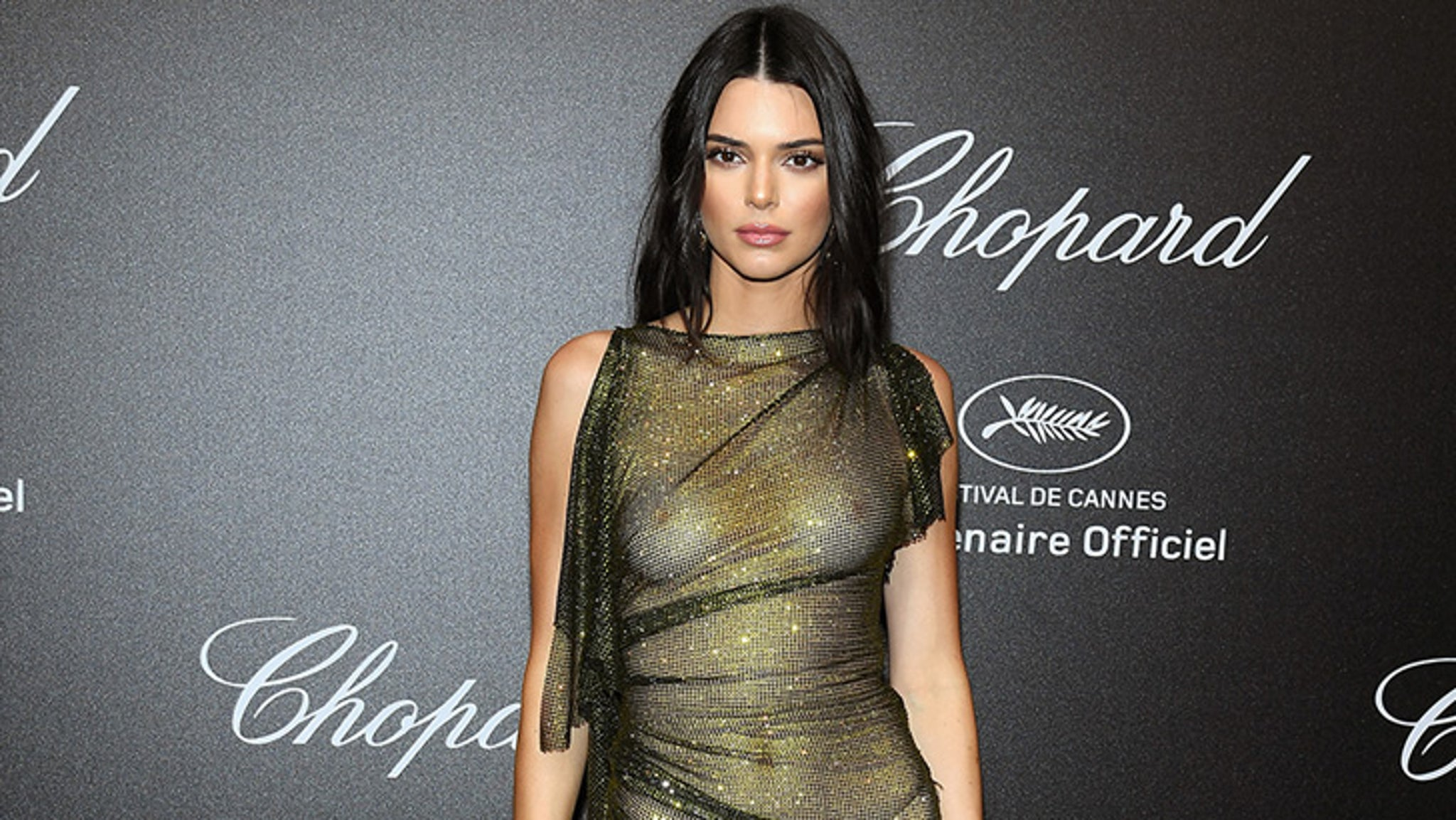 Kendall Jenner Wears Sheer Gown on Cannes Red Carpet
