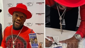 Floyd Mayweather Disses Manny Pacquiao at Autograph Signing, 'Victim 48!'