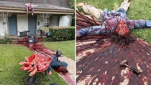 Morbid, Bloody Halloween Display Terrifies Dallas Residents, Cops Called