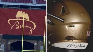 FSU Honoring Bobby Bowden After Death W/ Helmet Sticker, Logos & Banner