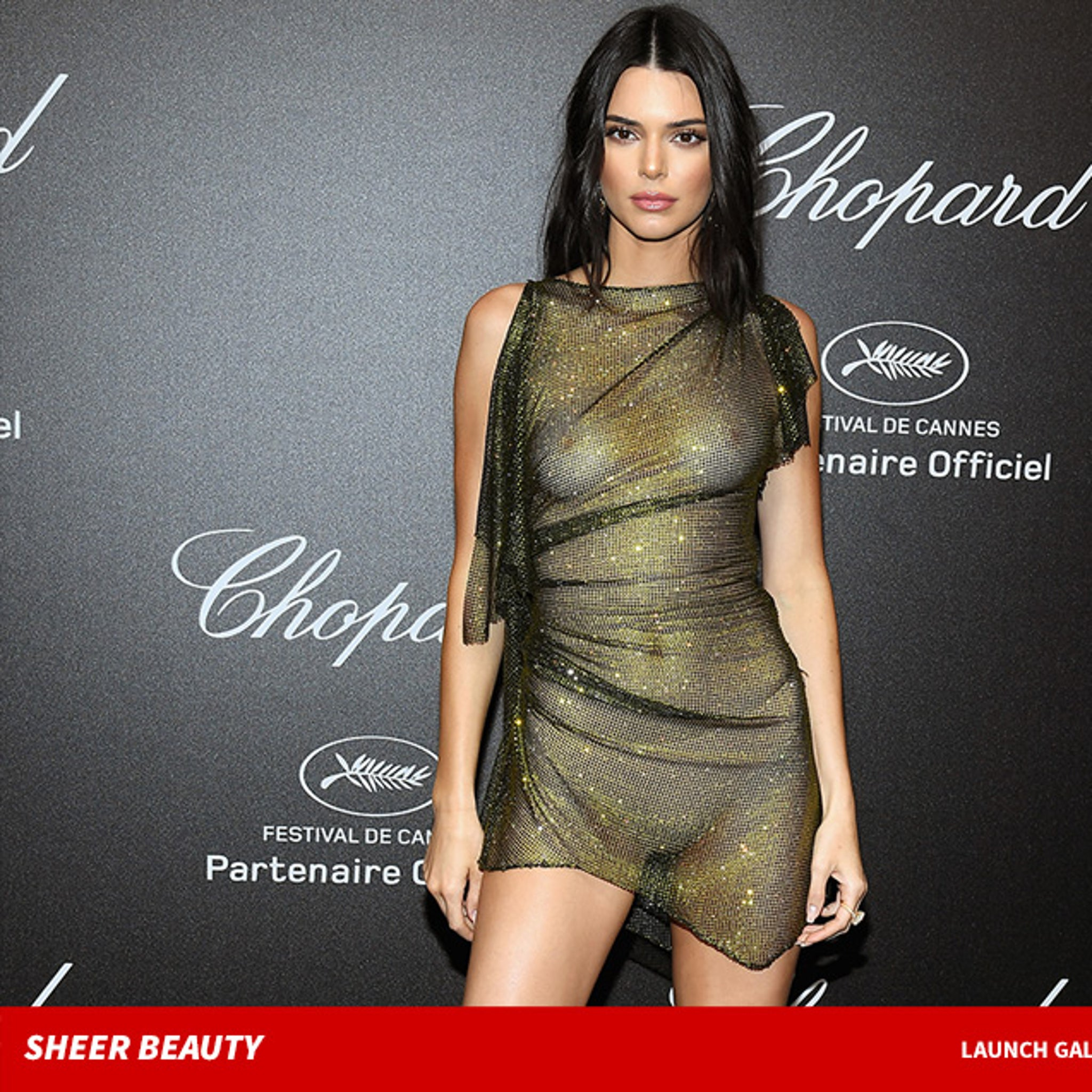 a5908ad07b0 Kendall Jenner Wears Completely See-Through Dress at Cannes