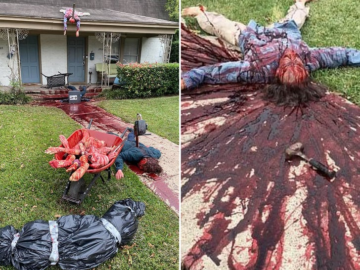 Bloody Halloween Display Terrifies Dallas Residents, Cops Called