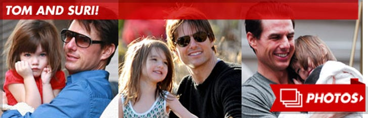 Tom and Suri -- The Daddy-Daughter Photos
