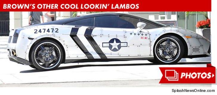 Chris Brown's Cool Lookin' Lambos