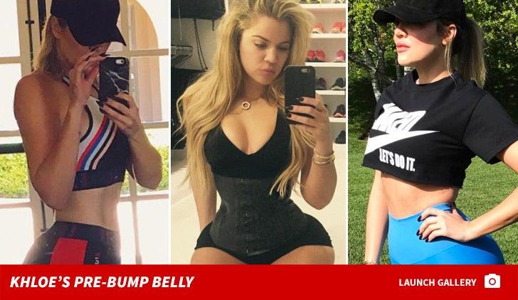 Khloe Kardashian's Pre-Bump Belly