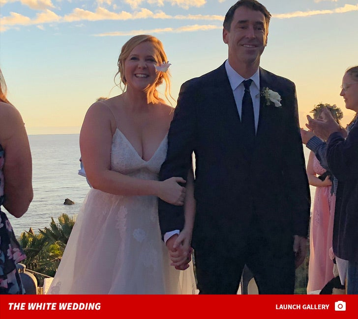 Amy Schumer -- White Wedding Photos