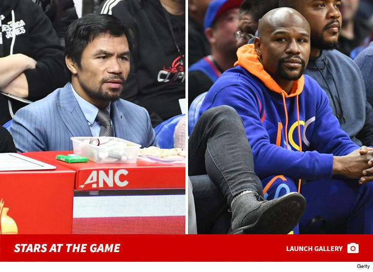Stars At The Clippers Game