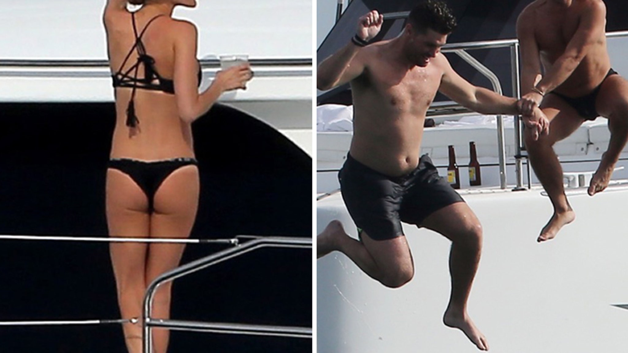 Kristin Cavallaris Teeny Bikini Booze Cruise  With Jay -3658