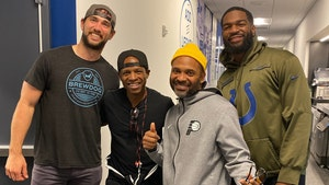 Andrew Luck Returns to Colts Facility, Hangs with Jacoby Brissett