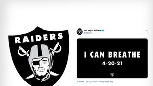 Las Vegas Raiders Getting Dragged Over 'I Can Breathe' Post After Chauvin Verdict