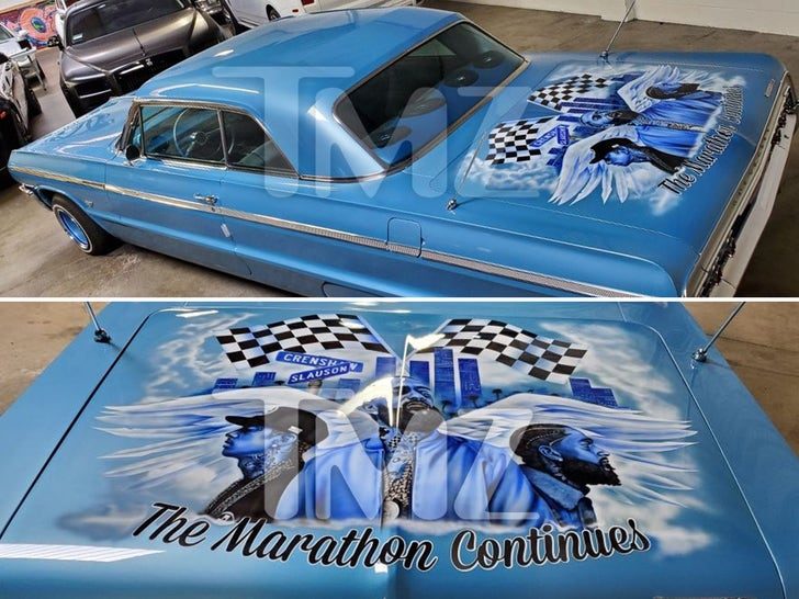 Nick Cannon's Nipsey Hussle Car Tribute