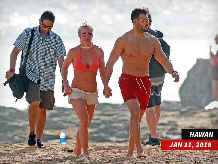 Britney Spears and Sam Asghari in Hawaii