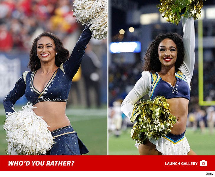 Rams vs. Chargers -- Who'd You Rather (Cheer Squad Edition)