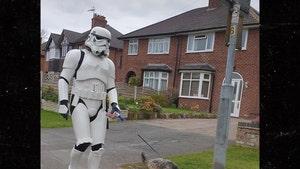 'Star Wars' Stormtrooper Walks Dog During  Coronavirus Pandemic