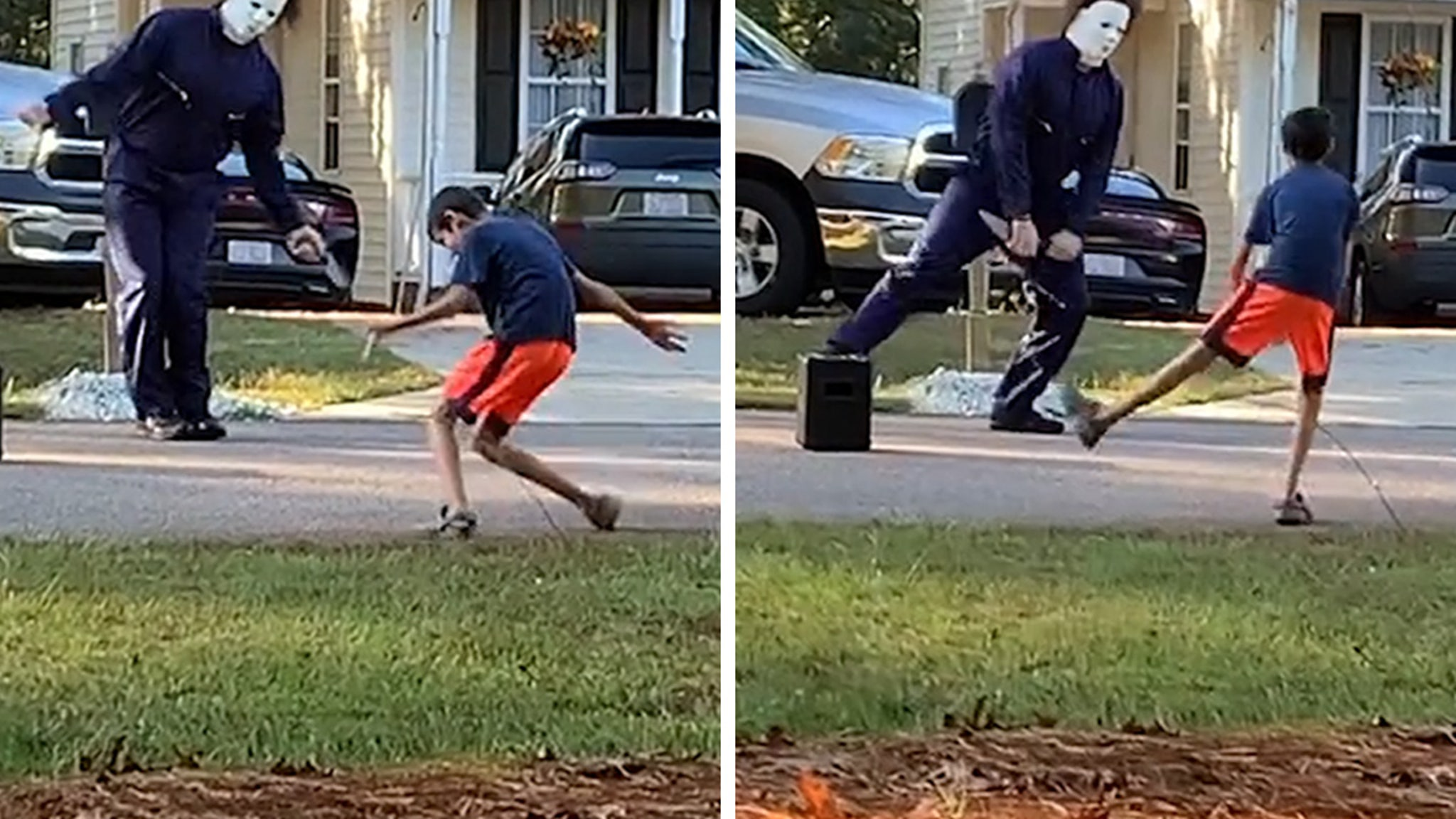 'Halloween' Dance Party Michael Myers Kills In Epic Battle with Kid