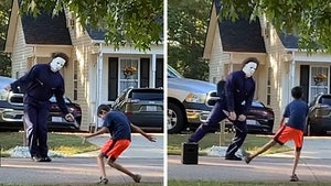 Michael Myers Has Halloween Dance-Off With Neighbor Kid