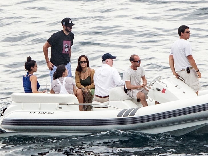 Rihanna and Hassan Jameel on a Yacht in Italy -- Take A Bow