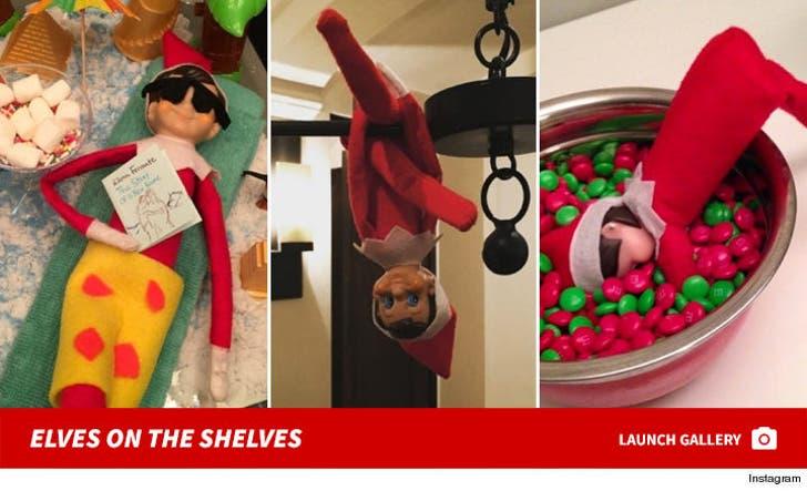 Celebrities' Elf on the Shelf
