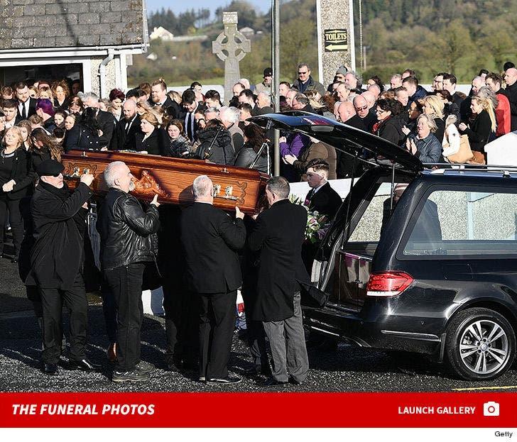 Dolores O'Riordan Funeral Photos