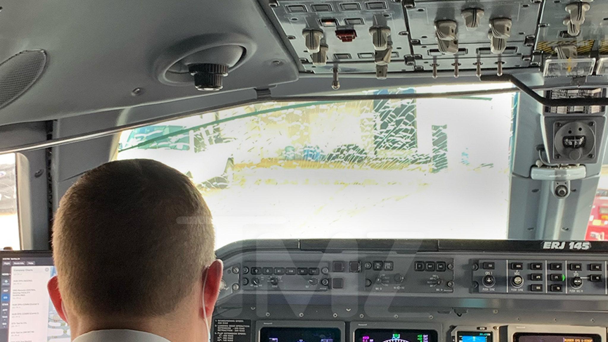 American Airlines Jet Strikes Bird, Cockpit Windshield Shattered