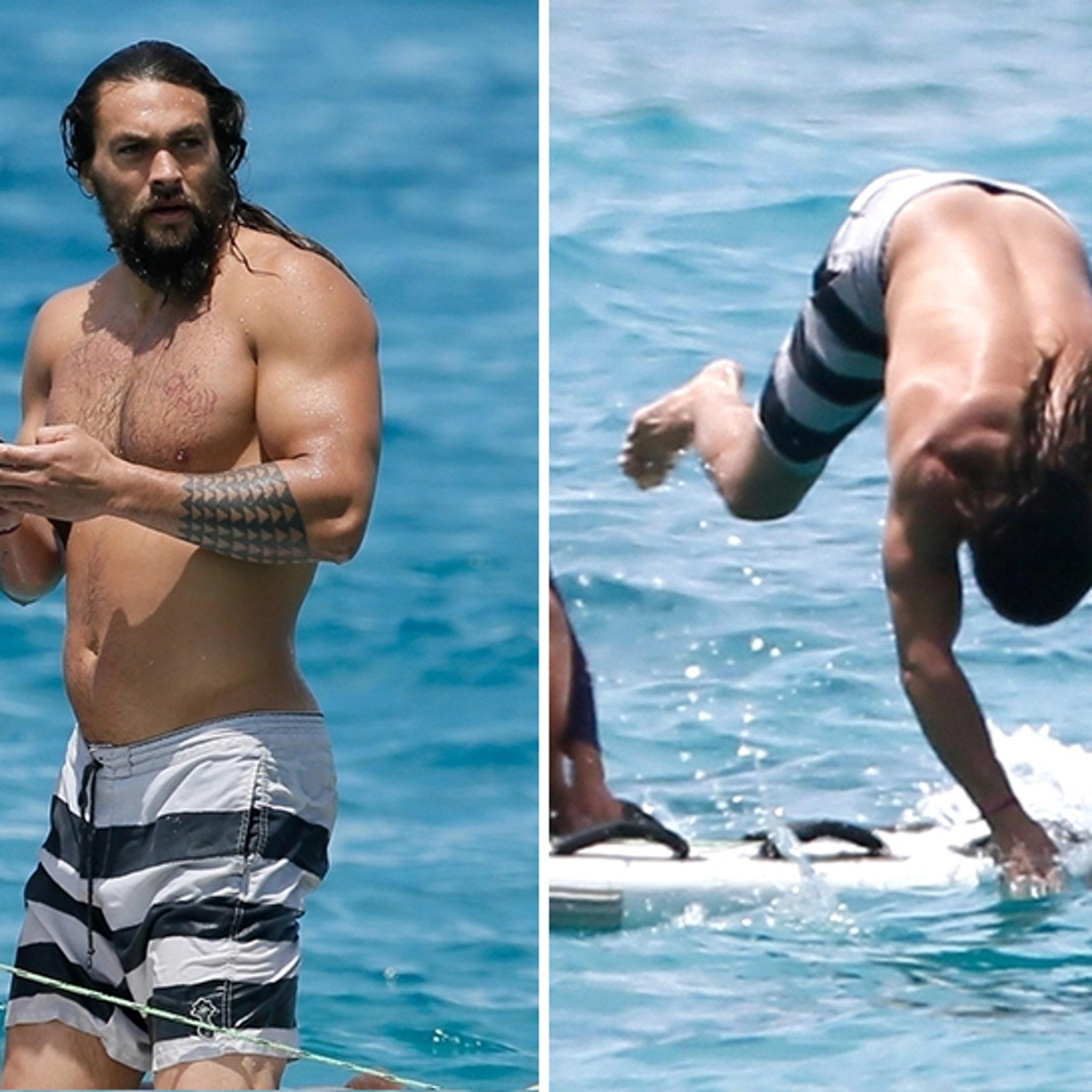 e9756a2e14 Jason Momoa Really Is Aquaman, Dives into Ocean to Save Phone