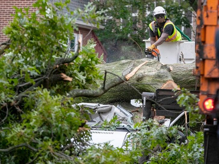 Tropical Storm Isaias Car Damage
