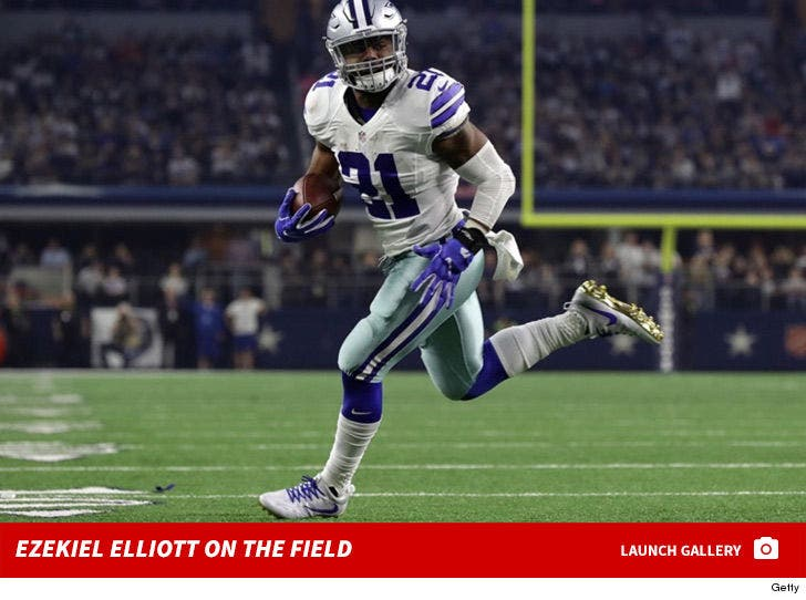 Ezekiel Elliott -- On the Field