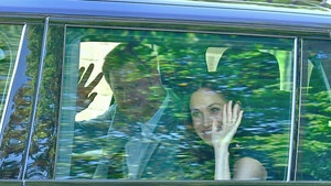 Prince Harry and Meghan Markle Leave Home for the Wedding