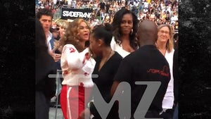 Michelle Obama Gets Down With Tina Knowles, Daughters at Jay-Z & Beyonce Concert