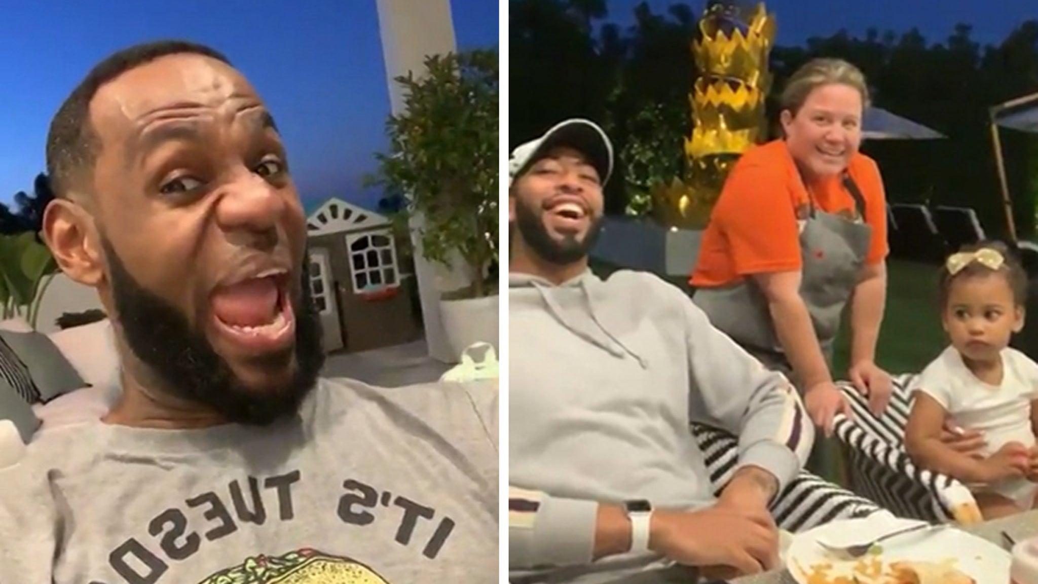LeBron James Brings Anthony Davis to 'Taco Tuesday!'
