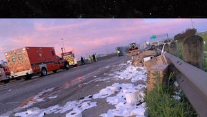 18-Wheeler Hauling Toilet Paper Crashes in Texas, Spilling TP
