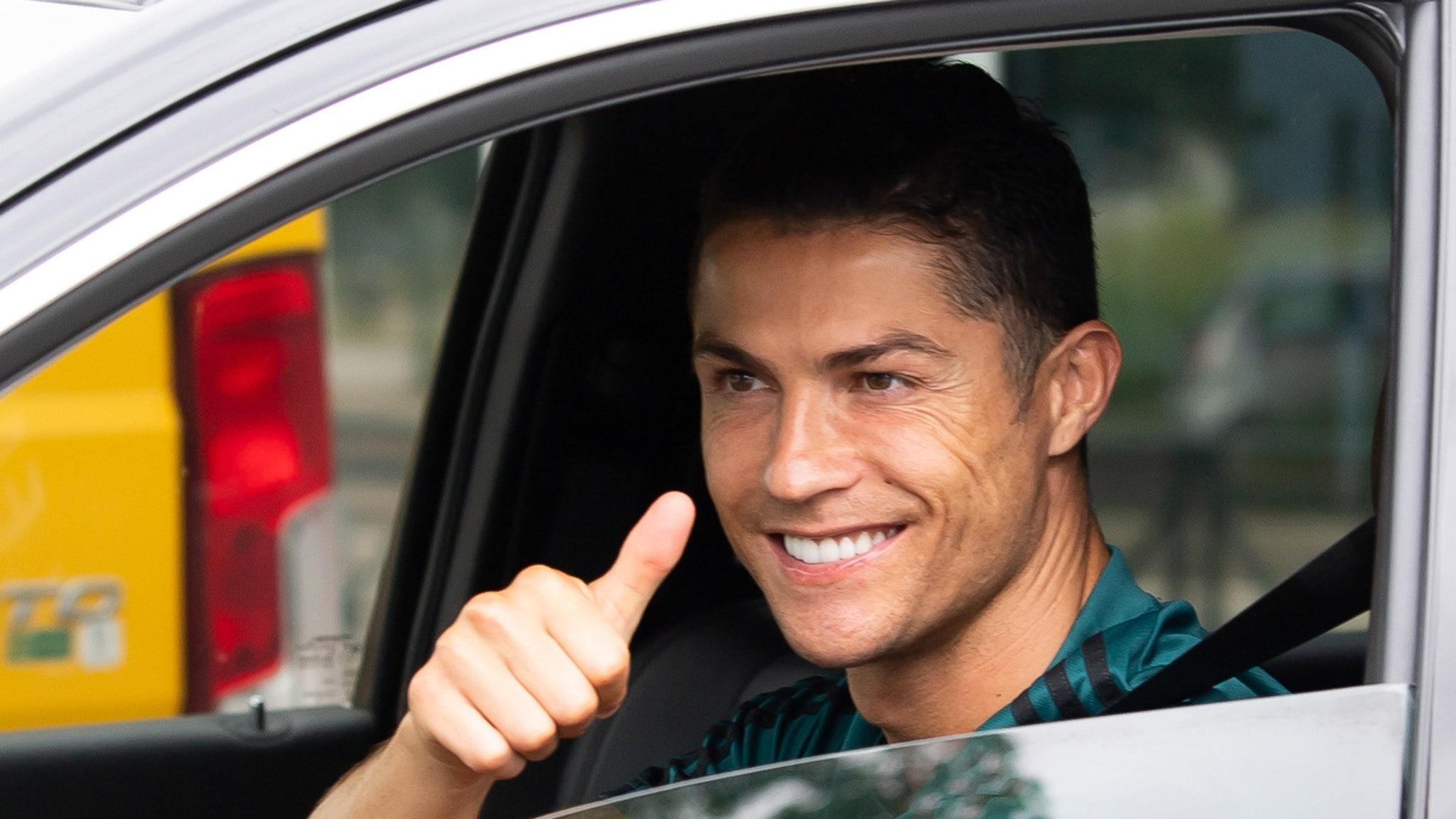 Cristiano Ronaldo Returns to Juventus Facility in Italy, All Smiles, Baby!