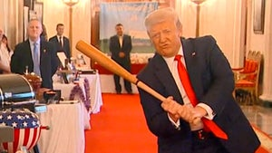 Donald Trump Swings Baseball Bat At White House Event, Call Me Slugger!