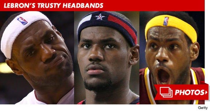 LeBron James and His Trusty Headbands