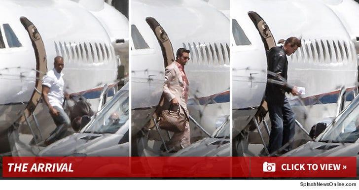 Kanye's Wedding Arrival