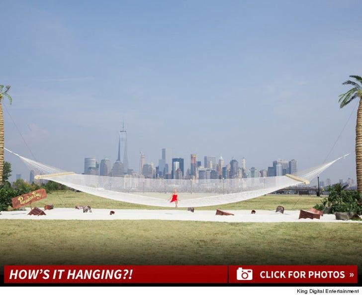 Malin Akerman in the World's Largest Hammock