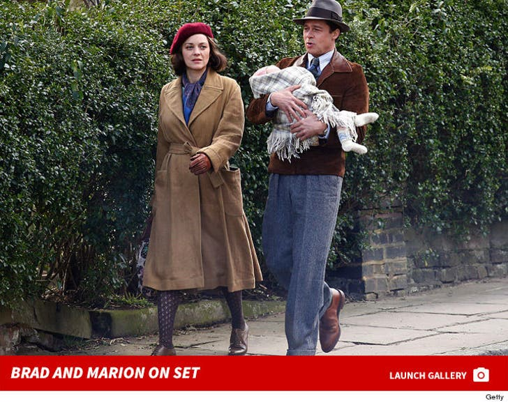 Brad and Marion -- On Set